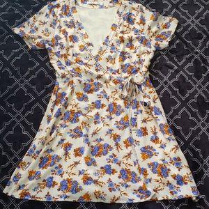 Beautiful floral wrap dress